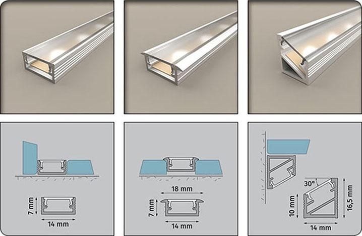 alu profil za led trak profil pokrov hotenjka d o o. Black Bedroom Furniture Sets. Home Design Ideas